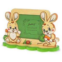 Portafoto Due Conigli