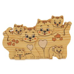 Famiglia Gatti Grande 6 Pezzi