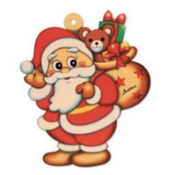 Decorazione Porta Babbo Natale