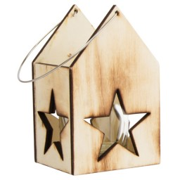 Wooden Lantern with...